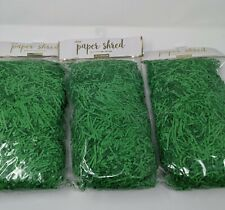 3 Bags Of 6 Oz Design / Focus Easter Paper Shred In Green