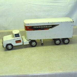Vintage Tonka Thunderbird Express Semi Truck, Trailer, Pressed Steel, 1959