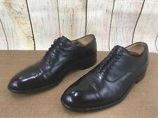 Johnston Murphy Cap toe Black Smooth calfskin Leather Oxfords Size 10.5 D X35(5)