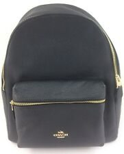 New Authentic Coach F29004 Charlie Pebble Leather Backpack Shoulder Bag Black