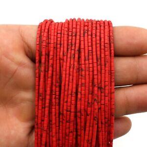 Red Coral Heishi Tyre Wheel Seed Tribal Afghani Beads Strand Craft Beads DIY AXX