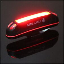 6 Modes COB 1 LED Bicycle Bike Cycling Front Rear Light USB Rechargeable Battery