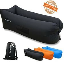 vansky 2.0 Inflatable Lounger Hammock Portable Couch Air Filled BLUE