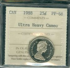 1988 CANADA 25 CENTS CANADA CERTIFIED FINEST GRADE