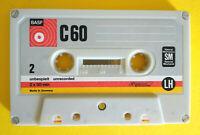 MC MusicassettaBASF C 60 c60 sm lh vintage compact cassette tape USATA no agfa