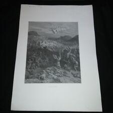 Gravure XIX siècle: Bataille de Nicée illustrée par Gustave Doré