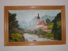 Bild in Öl gemalt von D.Mrosek  mit Holzrahmen selbst gemacht genutzt 113 x 72
