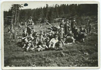 1930s Romanian Students Boys Hiking Camping in Forest Vintage Black White Photo