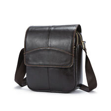 Men's Genuine Leather Shoulder Bags Messenger Bag Satchel Handbag Small