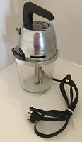 DORBY Electric 2 cup Glass Mixer GRAND SHEET METAL Melrose Park ILL Black VTG