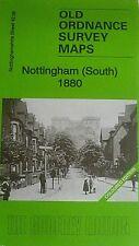 Old Ordnance Survey Detailed Map  Nottingham South 1880 Coloured Ed Sheet 42.06