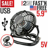Desk Table Fan Personal USB Small Air Circulator Quiet Mini Portable Retro