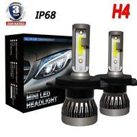 2x H4 HB2 9003 Car COB LED Headlight Conversion Globes Bulb High/Low Beam Kit