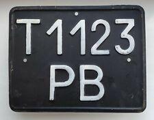 BIG USSR VINTAGE 1980 CAR VEHICLE LICENSE PLATE NUMBER UA for special equipment