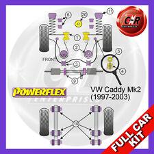 VW Caddy Mk2 Typ 9K (1997-2003) Powerflex Complete Bush Kit Non PAS