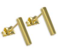 ECHT GOLD *** Stab Stäbchen Ohrstecker Ohrringe 12 mm