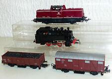 4 tlg. Lima Konvolut: Diesellok V 100 1026, Dampflok 80 018, Güterwagen der FS