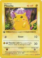 REPLICA Pikachu 58/102 Shadowless Red Cheeks Pokémon PROXY 1st Edition Misprint