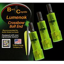 Burt Coyote Lumenok Crossbow Full Metal Jacket Bolt #00338 Green Flat End 3pk