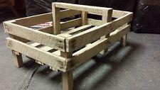 Vintage Handmade Rustic Antique Storage Wooden Crates  / Trugs