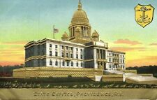 Providence, Rhode Island, State Capitol, Coat of Arms (1910s) Gold Embossed