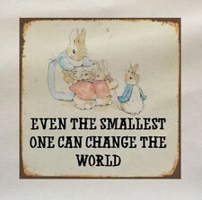 Peter Rabbit Smallest - Printed Fabric Panel Make A Cushion Upholstery Craft