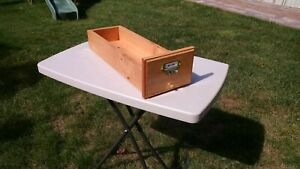 Flower Box Wedding Centerpieces - Library Card Catalog Drawers - Handmade