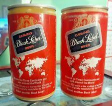 2 Black Label Beer,Flat Top Beer Can,12oz