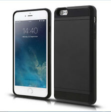 Shockproof Hybrid Armor Hard Phone Case Soft Silicone Bumper Cover + Card Slot