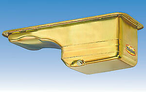 Milodon 31130 Steel, Gold Zinc Plated Street and Strip Deep Sump Oil Pan for Fi