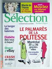SÉLECTION DU READER'S DIGEST DE JUILLET 2006, EN COUVERTURE PALMARÈS DE POLITESS