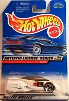 """Hot Wheels Blue Jaguar D-Type /""""1998 1st Ed./"""" w// 5 spoke wheels PKG# 638 MIP"""