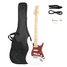 6 Strings White Electric Guitar +Strap +Cord +Gig Bag +Picks for Beginner Aduclt