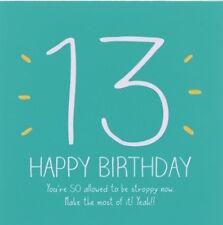 Happy Jackson Card: Happy Birthday 13 THIRTEEN- New In Cello