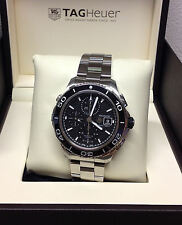 Tag Heuer Aquaracer Chronograph CAK2110 - 43mm Black Dial - Box & Papers - 2015
