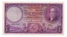 SCOTLAND 1 POUND 1947 PICK S332 AUNC