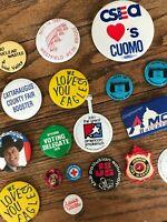 Lot Vtg Estate 1970s 1980s 1990s Political Badge Button Pinbacks Pins Collection