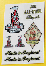 Raleigh 1950's Vintage style Cycle Bike Stickers decals SPORTS TOURIST etc.