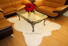 5' x 8' Large Big True White Bear Faux Fur Rug modern Fake Bearskins