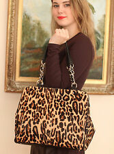 Kate Spade $1295 LUX Crown Point Garcia Calfhair Leopard Leather Shoulder Bag