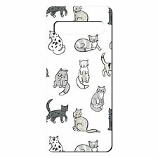 For Samsung Galaxy S10 Silicone Case Cats Pattern - S3059