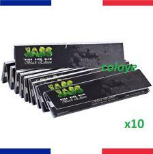 JASS Slim Black Edition Lots 10 Carnets de Feuilles à Rouler