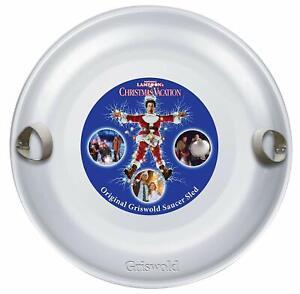 Christmas Vacation Metal Sled Gag Gift Funny Xmas Present Round Saucer Sleigh