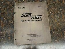 Star Trek Next Generation Pinball Machine Service Manual, Atlanta (714)