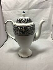 "WEDGWOOD CHINA 9"" Coffee Pot With Lid Blue Florentine W1956  VGUC"