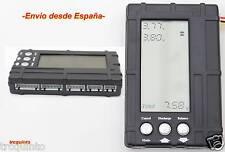 Medidor, balanceador, descargador de baterías, Lipo, Life y batería receptor