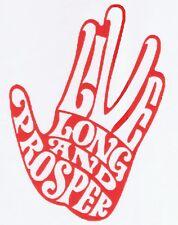 CUT VINYL DECAL STICKER FOR CAR LAPTOP - STAR TREK LIVE LONG AND PROSPER-HAND