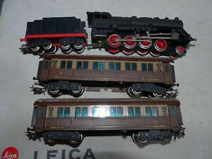 LIMA - Convoglio FS con Loco a vapore a 5 assi con tender e 2 vetture pass.ri-HO