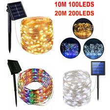 100/200LED Solar Fairy String Lights Copper Wire Outdoor Party Xmas Garden Decor