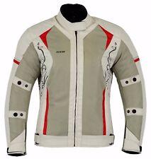 Womens Ladies Waterproof Motorcycle Jacket Motorbike Armour Mesh Textile Jackets